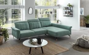 Rohová sedačka Merlande pravý roh zelená