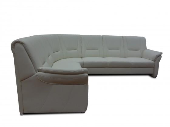 Rohová sedačka Oman levý roh (antonio white, bílá, eko kůže)