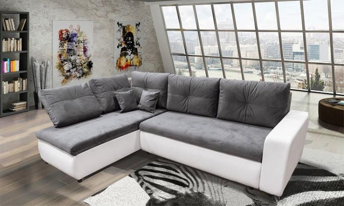 Rohová sedačka Pono univerzální (casablanca/madryt new120,bílá)