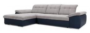 Rohová sedačka rozkládací Ateca levý roh ÚP šedá, modrá