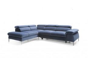 Rohová sedačka rozkládací Berg levý roh ÚP modrá