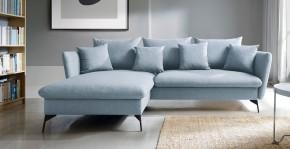 Rohová sedačka rozkládací Bilto levý roh ÚP modrá