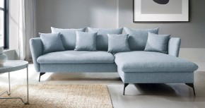 Rohová sedačka rozkládací Bilto pravý roh ÚP modrá