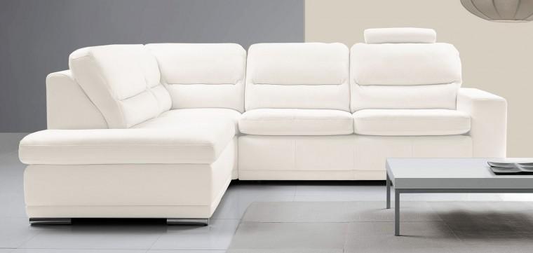 Rohová sedačka rozkládací Bono levý roh bílá