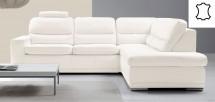 Rohová sedačka rozkládací Bono pravý roh bílá - II. jakost