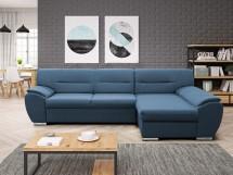 Rohová sedačka rozkládací Fortino pravý roh ÚP modrá