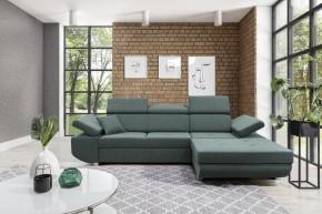 Rohová sedačka rozkládací Gans pravý roh ÚP zelená