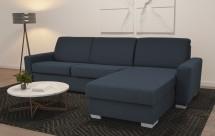 Rohová sedačka rozkládací Leka pravý roh ÚP modrošedá