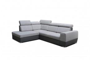 Rohová sedačka rozkládací Matrix levý roh ÚP šedá - II. jakost