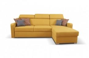 Rohová sedačka rozkládací Meli pravý roh ÚP žlutá