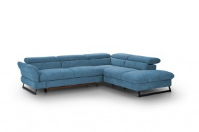 Rohová sedačka rozkládací Naples pravý roh modrá