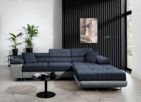Rohová sedačka rozkládací Tanami pravý roh ÚP modrá