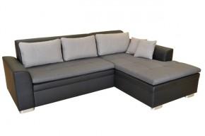 Rohová sedačka rozkládací Vanilla pravý roh ÚP černá, šedá