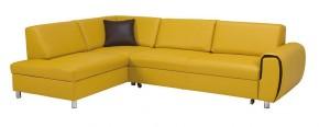 Rohová sedačka rozkládací Vigo levý roh ÚP žlutá
