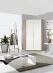 Rohová skříň Clack - 2x dveře, (dub/bílá)