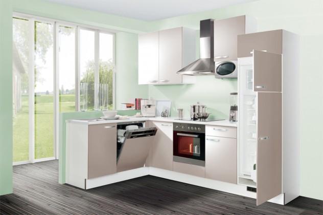 Rohová Slowfox - Kuchyň rohová, 280x175cm (krémová/bílá)
