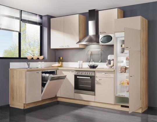 Rohová Slowfox - Kuchyň rohová, 280x175cm (krémová/horský dub)