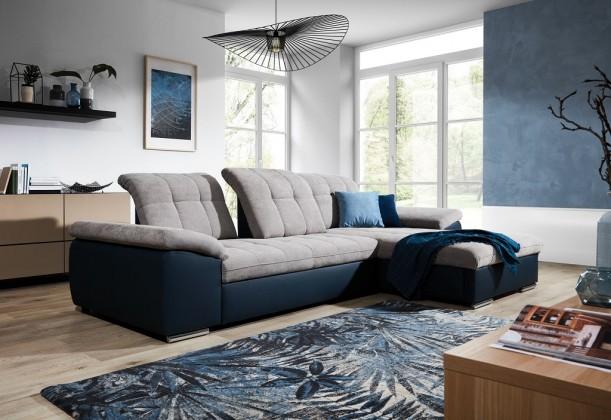 Rohové Rohová sedačka rozkládací Ateca pravý roh ÚP šedá, modrá