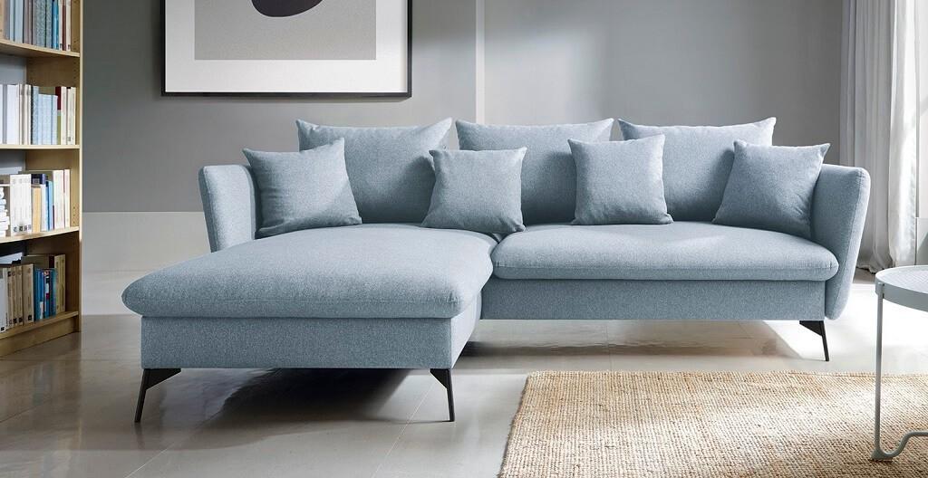 Rohové Rohová sedačka rozkládací Bilto levý roh ÚP modrá