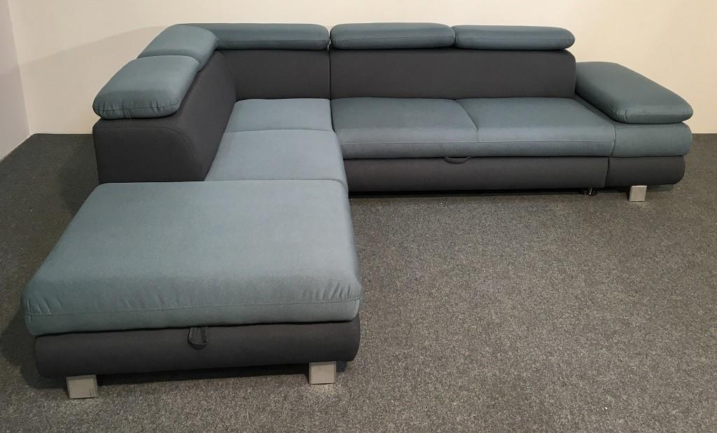 Rohové Rohová sedačka rozkládací Canton levý roh ÚP modrá, šedá