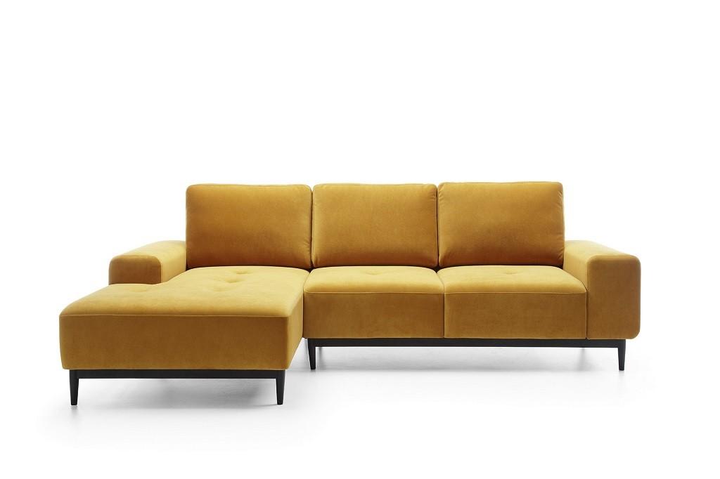 Rohové Rohová sedačka rozkládací Forsa levý roh ÚP žlutá