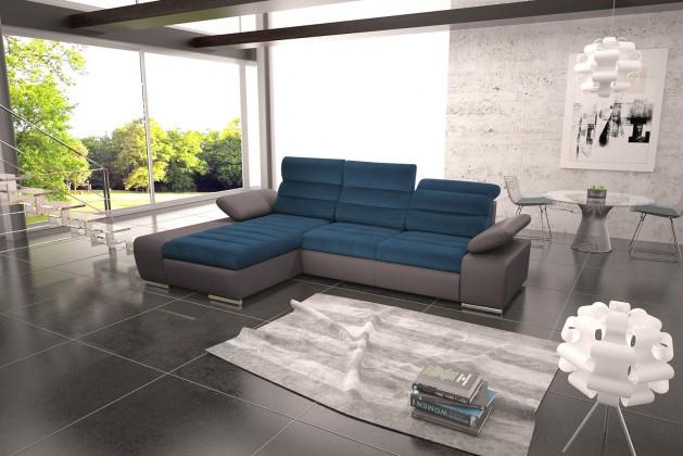 Rohové Rohová sedačka rozkládací Korfu levý roh ÚP šedá, modrá