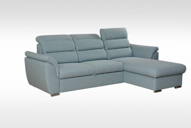Rohové Rohová sedačka rozkládací Mediolan pravý roh ÚP modrá