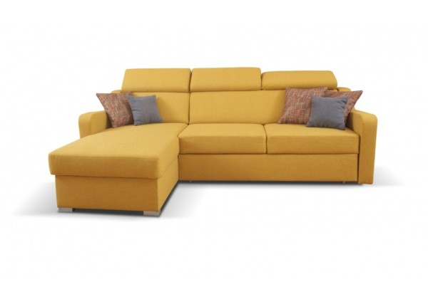 Rohové Rohová sedačka rozkládací Meli levý roh ÚP žlutá