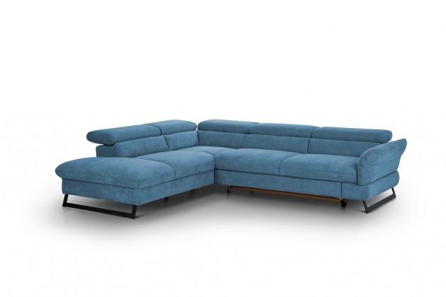 Rohové Rohová sedačka rozkládací Naples levý roh modrá