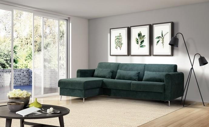 Rohové Rohová sedačka rozkládací Sia levý roh ÚP zelená