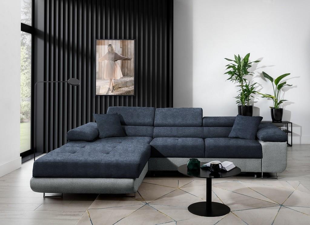 Rohové Rohová sedačka rozkládací Tanami levý roh ÚP modrá