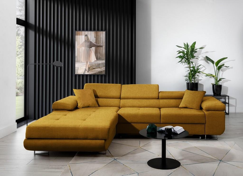 Rohové Rohová sedačka rozkládací Tanami levý roh ÚP žlutá