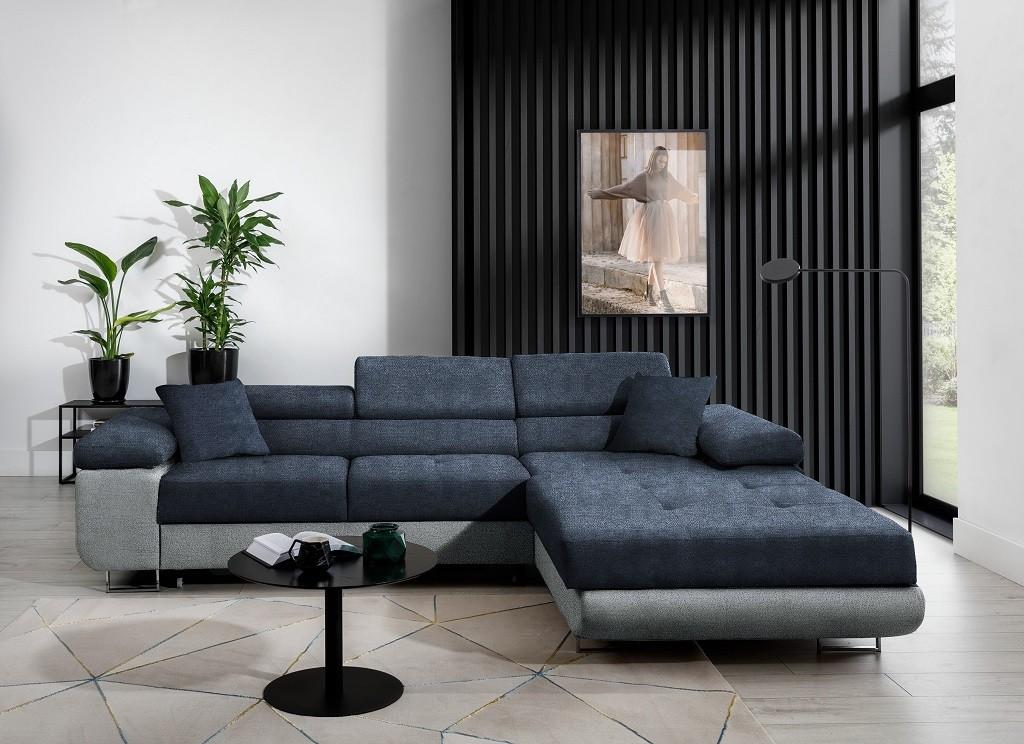 Rohové Rohová sedačka rozkládací Tanami pravý roh ÚP modrá