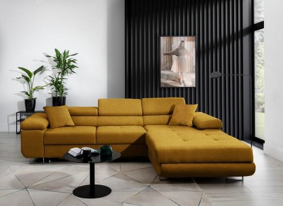 Rohové Rohová sedačka rozkládací Tanami pravý roh ÚP žlutá