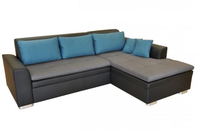 Rohové Rohová sedačka rozkládací Vanilla pravý roh ÚP černá,šedá,modrá