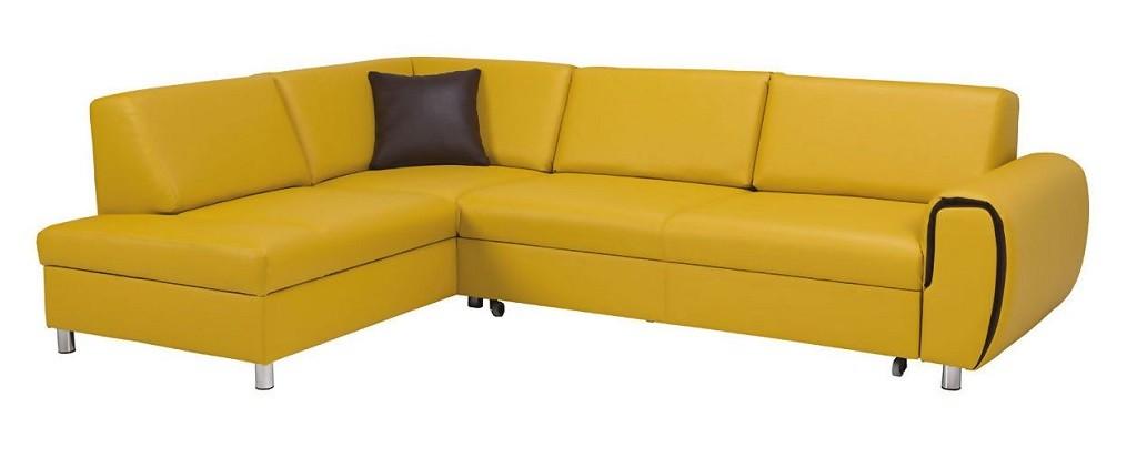 Rohové Rohová sedačka rozkládací Vigo levý roh ÚP žlutá