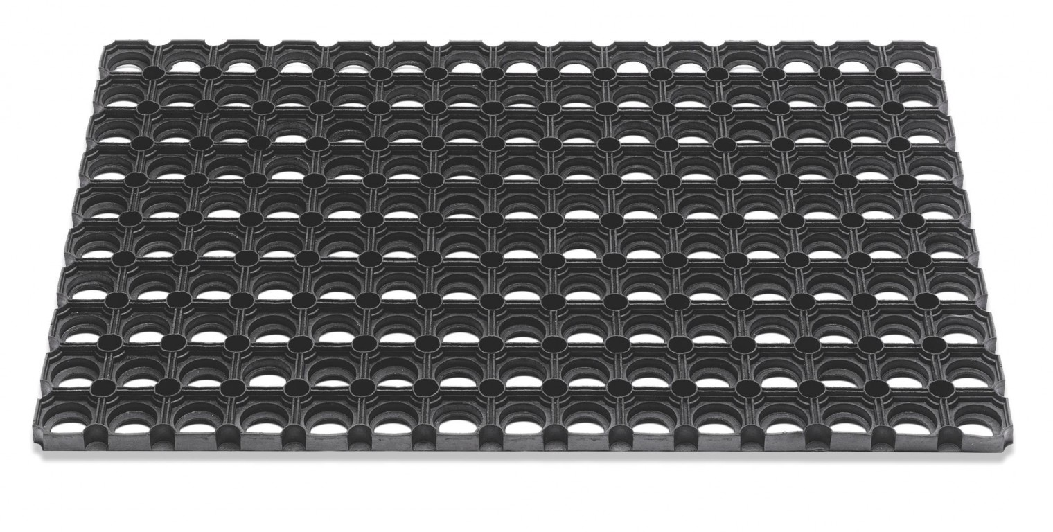 Rohožka - Domino, 100x150x2,3 cm (černá)