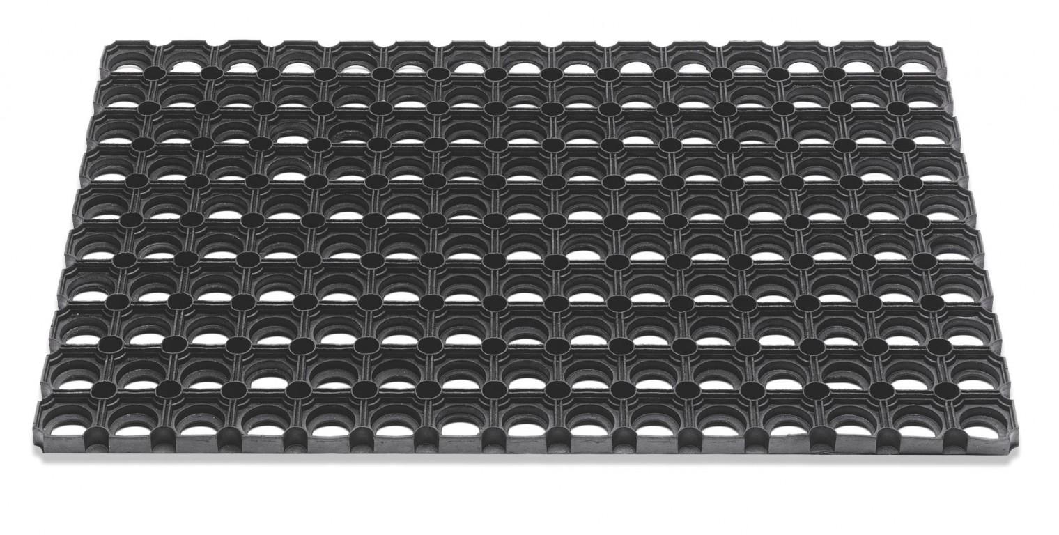 Rohožka - Domino, 50x80x2,3 cm (černá)