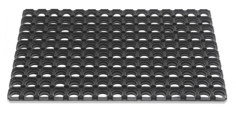 Rohožka - Domino, 60x80x2,3 cm (černá)