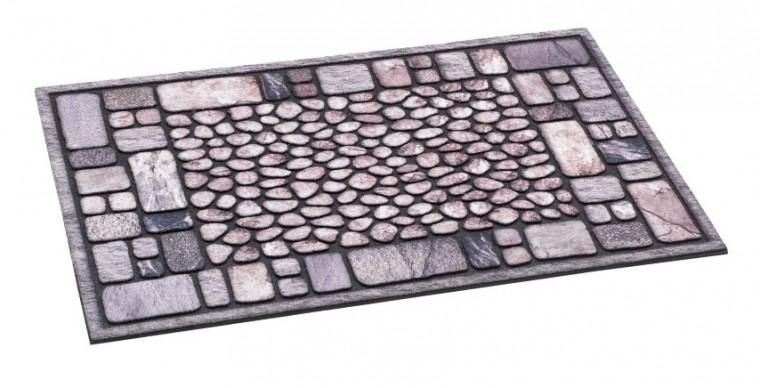Rohožka - Ecomat, šedá, 40x60 cm (kamínky)