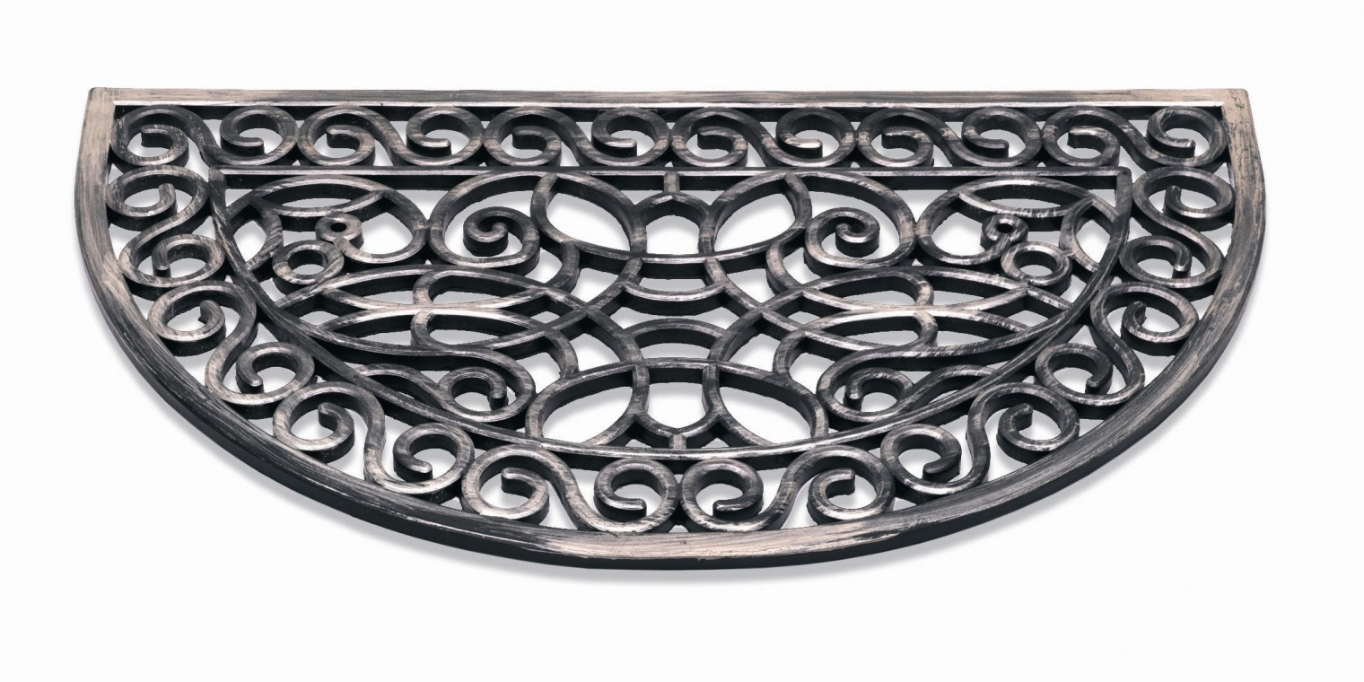 Rohožka - Inca, půlkruh, 45x75 cm (stříbrná)