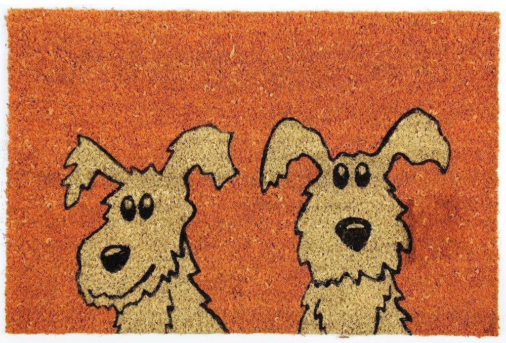 Rohožky Kokosová rohožka Dva psi (40x60 cm)