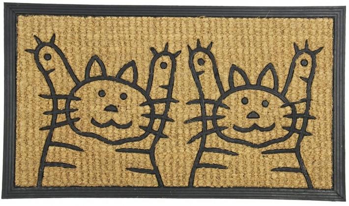 Rohožky Kokosová rohožka Dvě kočky (40x70 cm)