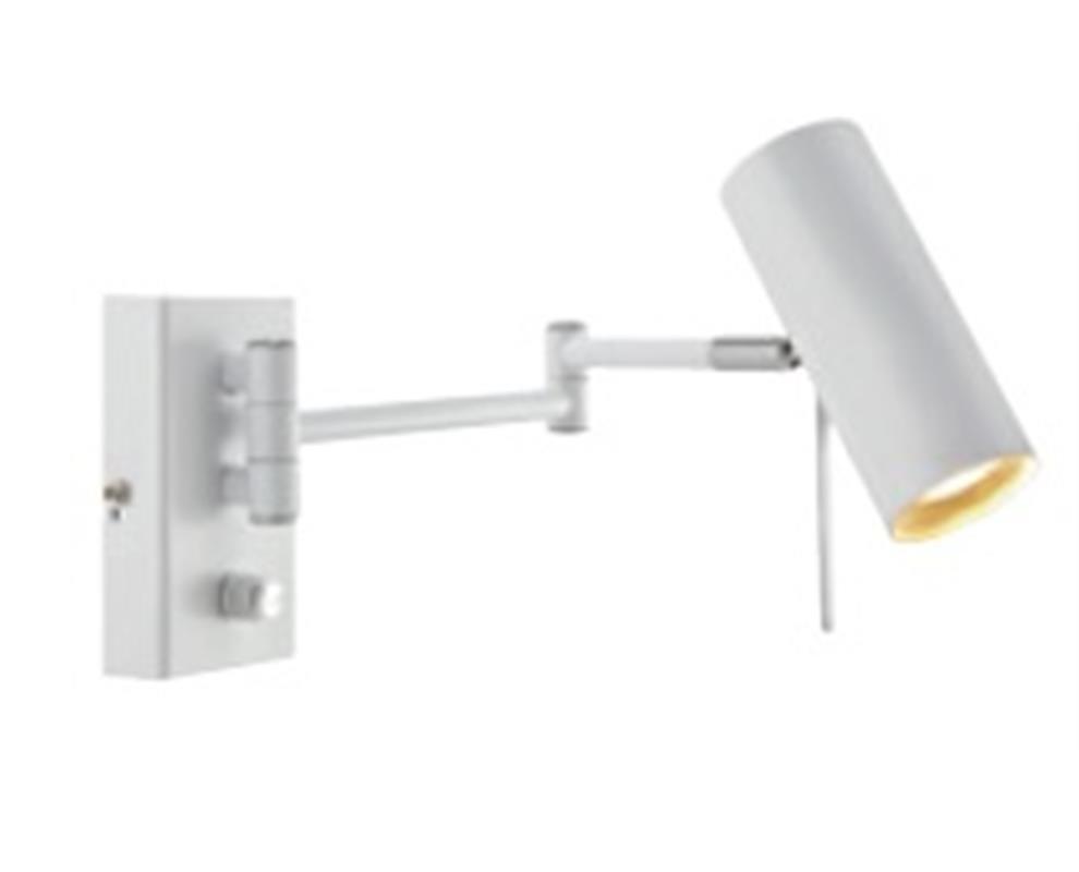 Roma - Nástěnné svítidlo (kov/kov/bílá)