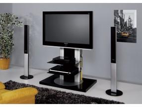 Roma - TV stolek s držákem (černá vysoký lesk)