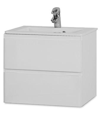 Rouen - Skříňka s umyvadlem 60 cm (bílá vysoký lesk)