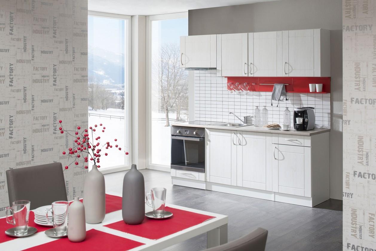 Rovná Aneta - Kuchyňský blok 210 D (bílá/pino aurelio/PD písek)