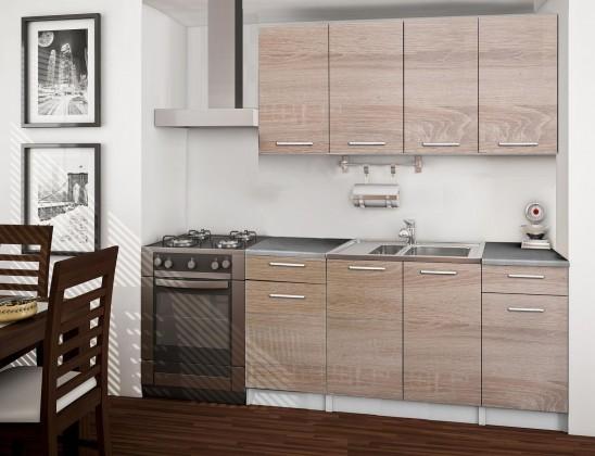 Rovná Basic - kuchyňský blok, 160 cm (dub sonoma)