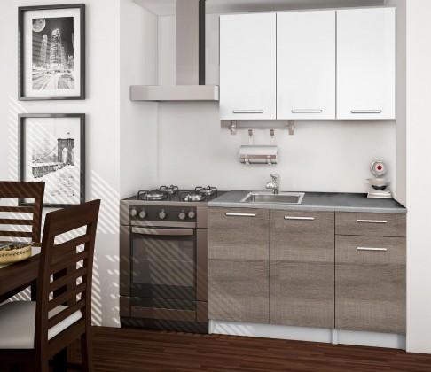 Rovná Basic - Kuchyňský blok A, 120 cm (bílá, trufle, titan)