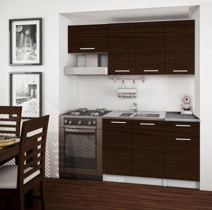 Rovná Basic - kuchyňský blok A, 180 cm (wenge)